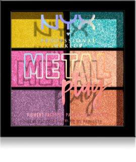 NYX Professional Makeup Metal Play metalické oční stíny