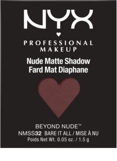 NYX Professional Makeup Nude Matte Shadow Beyond Nude™ matné oční stíny náhradní náplň