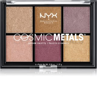 NYX Professional Makeup Cosmic Metals™ палитра сенки за очи