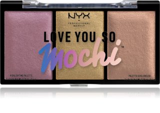 NYX Professional Makeup Love You So Mochi палитра хайлайтъри