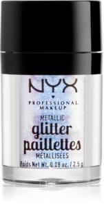 NYX Professional Makeup Glitter Goals metalické trblietky na tvár a telo