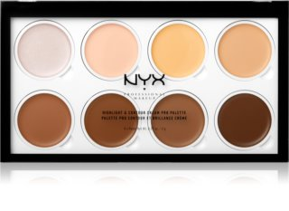 NYX Professional Makeup Highlight & Contour Cream PRO Púderes highlight és kontúr paletta