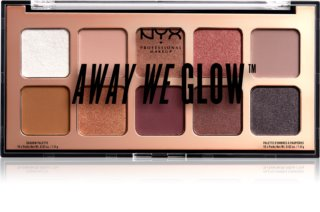 NYX Professional Makeup Away We Glow paleta de sombra para os olhos