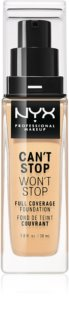 NYX Professional Makeup Can't Stop Won't Stop Foundation mit hoher Deckkraft