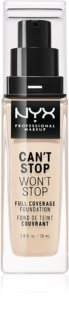 NYX Professional Makeup Can't Stop Won't Stop Make-up mit hoher Deckkraft
