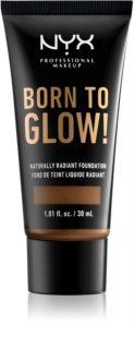 NYX Professional Makeup Born To Glow das flüssige aufhellende Foundation