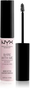 NYX Professional Makeup Bare With Me Hemp Brow Setter gel para sobrancelhas