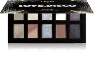 NYX Professional Makeup Love Lust Disco paletă cu farduri de ochi