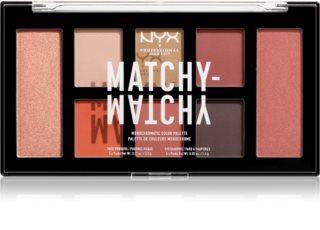 NYX Professional Makeup Matchy-Matchy  paletka očních stínů