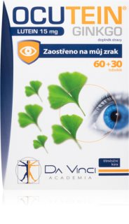 Da Vinci Academia Ocutein Da Vinci Ginkgo 45mg+Lutein 15mg doplněk stravy pro podporu zdravého zraku