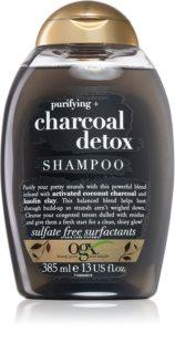 OGX Charcoal Detox čisticí šampon pro oslabené vlasy