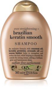OGX Brazilian Keratin Smooth uhlazující šampon pro lesk a hebkost vlasů