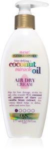 OGX Coconut Miracle Oil cremă hrănitoare și termo-protectoare pentru o uscare rapida