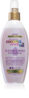OGX Coconut Miracle Oil leicht festigendes Haarlack ohne Aerosol