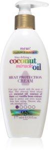 OGX Coconut Miracle Oil Hitzeschutzcreme zur Glättung widerspenstiger Haare