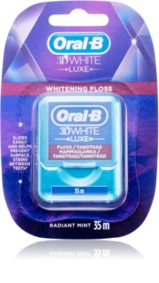 Oral B 3D White Luxe Waxed Dental Floss with Whitening Effect