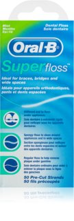 Oral B Super Floss Dental Floss on Braces and Implants