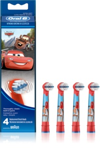 Oral B Stages Power EB10 Cars Replacement Heads For Toothbrush 4 pcs