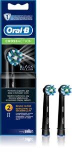 Oral B Cross Action EB 50 Black náhradné hlavice na zubnú kefku 2 ks