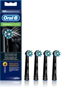 Oral B Cross Action EB 50 Black Replacement Heads For Toothbrush 4 pcs