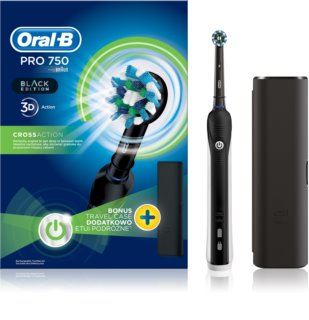 Oral B Pro 750 D16.513.UX CrossAction elektrische Zahnbürste + Etui