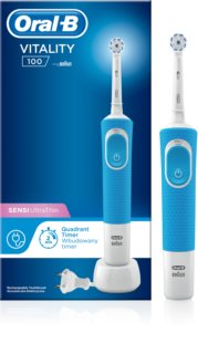 Oral B Vitality 100 Sensi UltraThin D100.413.1 Blue Electric Toothbrush