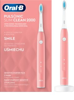 Oral B Pulsonic Slim Clean 2000 Pink Sonic Electric Toothbrush
