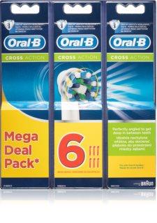 Oral B Cross Action EB 50 cabeças de reposição para escova de dentes 6 pçs