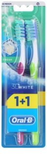Oral B 3D White Fresh medium fogkefék 2 db