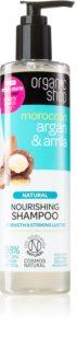Organic Shop Natural Moroccan Argan & Amla  vyživující šampon pro poškozené a barvené vlasy