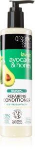Organic Shop Natural Avocado & Honey après-shampoing régénérant pour cheveux secs et abîmés