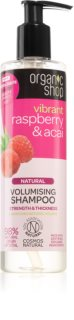 Organic Shop Natural Raspberry & Acai shampoing purifiant et volumateur