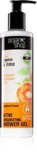 Organic Shop Organic Grapefruit & Lime gel de duș activ