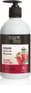 Organic Shop Organic Pomegranate & Patchouli Ніжне рідке мило для рук  з дозатором