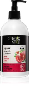 Organic Shop Organic Pomegranate & Patchouli течен сапун-грижа за ръце с дозатор