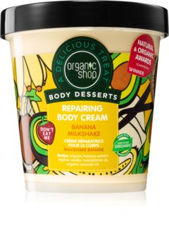 Organic Shop Body Desserts Banana Milkshake αναγεννητική κρέμα για το σώμα