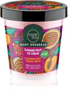 Organic Shop Body Desserts Summer Fruit Ice Cream creme de limpeza com efeito peeling