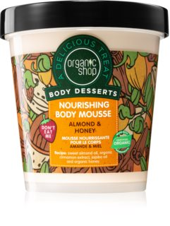 Organic Shop Body Desserts Almond & Honey mousse corpo nutriente e idratante