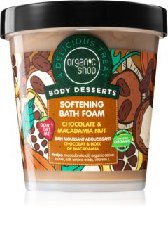 Organic Shop Body Desserts Chocolate & Macademia Nut mousse bagno emolliente