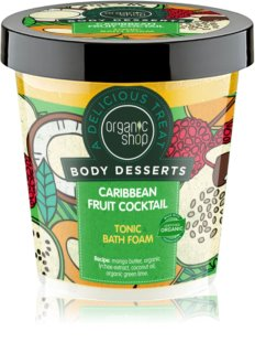 Organic Shop Body Desserts Caribbean Fruit Cocktail Tonisierendes Schaumbad