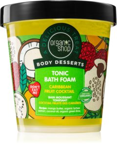 Organic Shop Body Desserts Caribbean Fruit Cocktail αφρόλουτρο για τόνωση