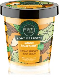 Organic Shop Body Desserts Mango Sugar Sorbet Renewing Sugar Scrub for Body