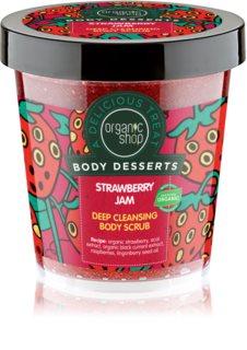 Organic Shop Body Desserts Strawberry Jam scrub di pulizia profonda per il corpo
