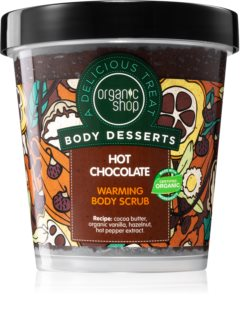 Organic Shop Body Desserts Hot Chocolate scrub nutriente corpo