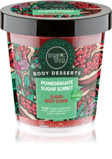 Organic Shop Body Desserts Pomegranate освежаващ захарен пилинг за тяло