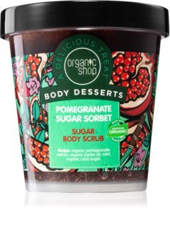 Organic Shop Body Desserts Pomegranate Refreshing Sugar Scrub för kropp