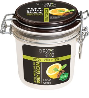 Organic Shop Body Sculpting Lemon Coffee creme corporal suave com efeito remodelador