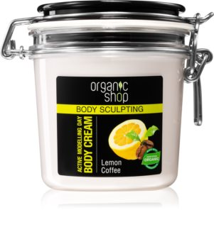 Organic Shop Body Sculpting Lemon Coffee Milde Bodycrème met Remodelling Effectiviteit