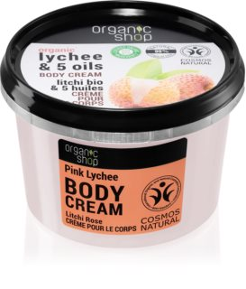 Organic Shop Organic Lychee & 5 oils Caring Body Cream