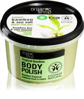 Organic Shop Organic Bamboo & Sea Salt Energising Body Scrub